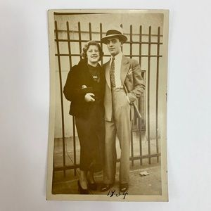Other - Vintage 30s RPPC Couple in Love Fashion Postcard